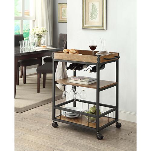 Austin Black Kitchen Cart