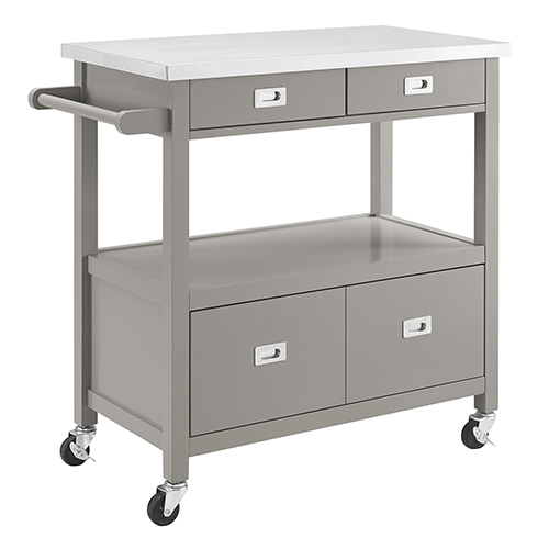 Sydney Gray Kitchen Cart