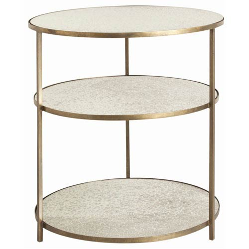 Arteriors Home Percy Antique Brass Side Table Bellacor - Brushed brass side table