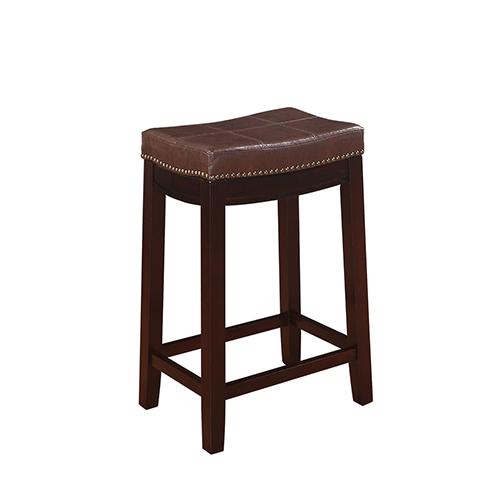Brighton Hill Claridge Dark Brown 24-Inch Counter Stool