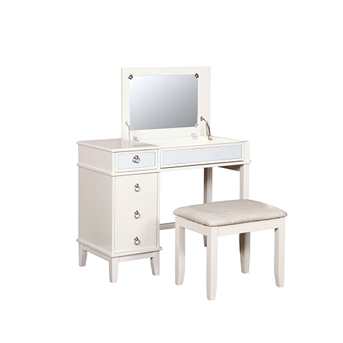 Eva White Vanity Set