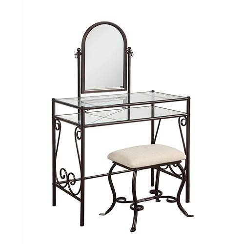 Clarisse Dark Metal Vanity Set