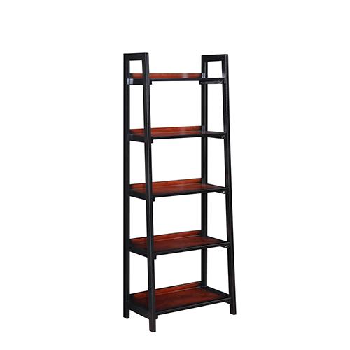 Camden Black Cherry Five Shelf Bookcase