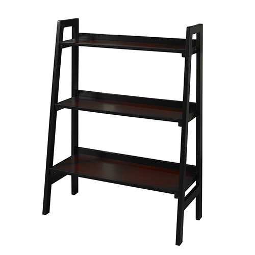 Camden Black Cherry Three Shelf Bookcase