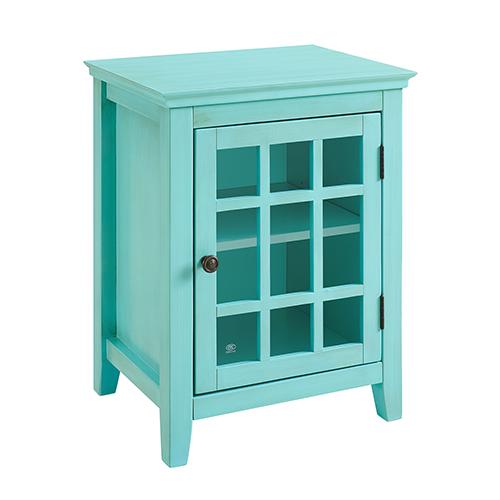 Brighton Hill Largo Antique Turquoise Single Door Cabinet