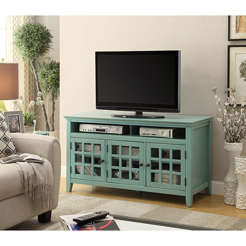 Largo Turquoise Media Cabinet