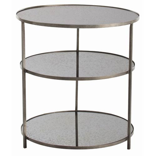 Arteriors Home Percy Zinc 30 Inch Three Tier Side Table 6682 Bellacor