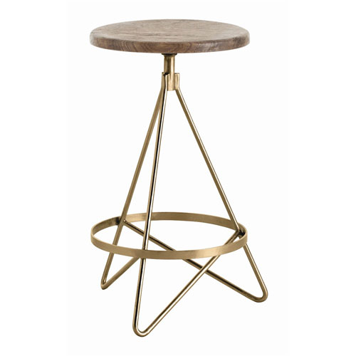 Arteriors Home Wyndham Natural Wax Swivel Counter Stool