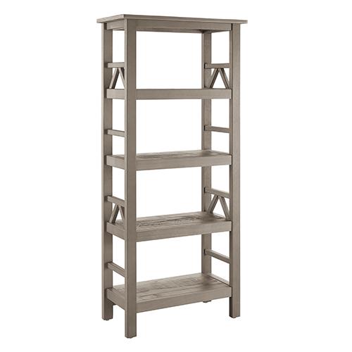 Brighton Hill Titian Rustic Gray Bookcase