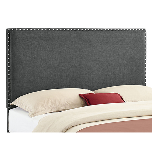 Contempo Charcoal Upholstered Full/Queen Headboard
