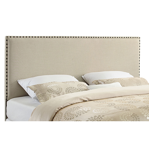 Contempo Natural Upholstered King Headboard