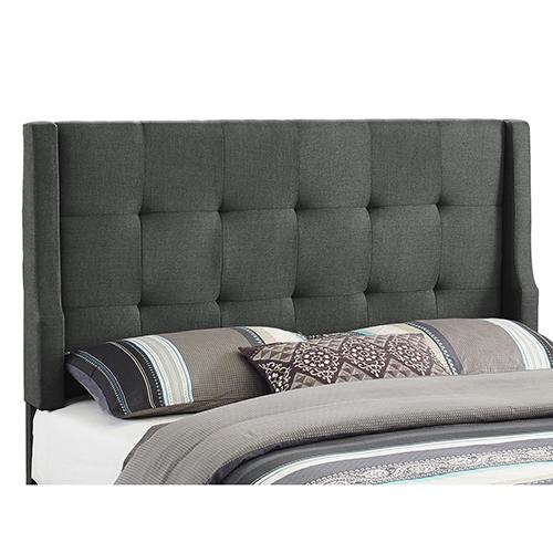 Luxe Charcoal Upholstered Full/Queen Headboard