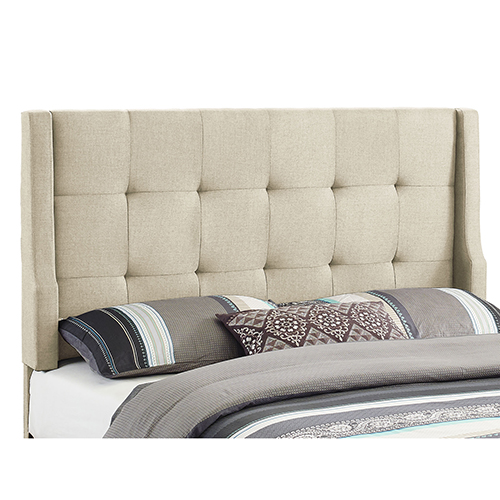 Luxe Natural Upholstered Full/Queen Headboard