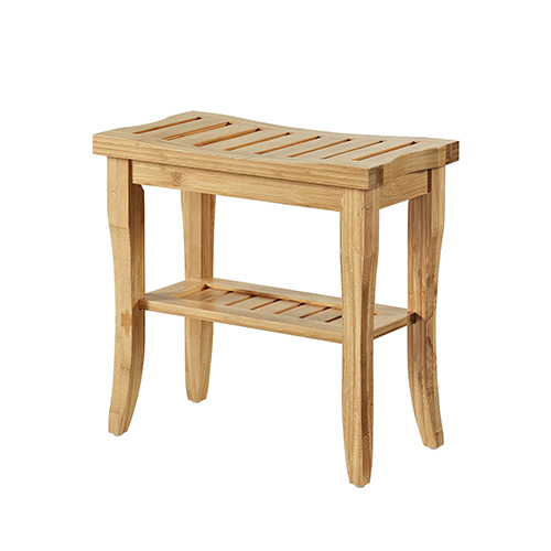 Bracken Natural Bamboo Bathroom Stool