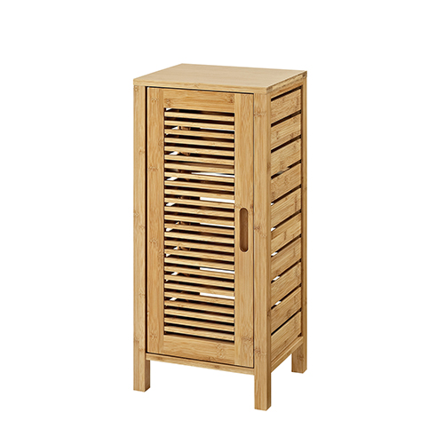Bracken Natural Bamboo Bathroom One Door Floor Cabinet