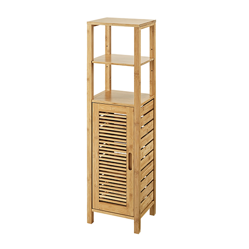 Bracken Natural Bamboo Bathroom Mid Cabinet