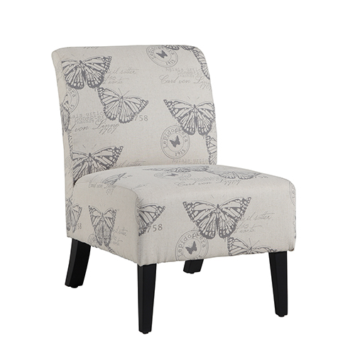Brighton Hill Lily Gray Upholstered Chair