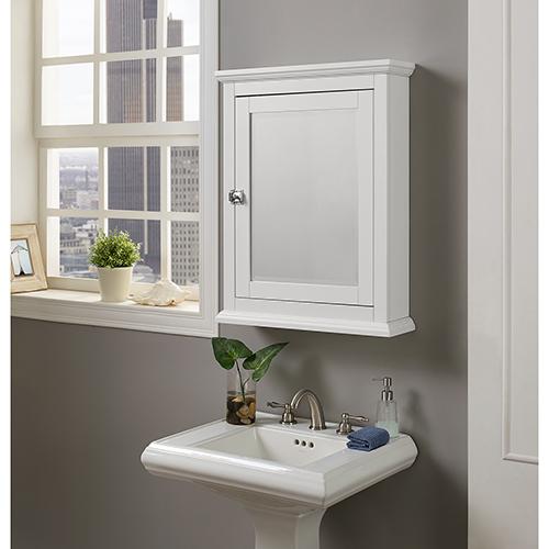 Scarsdale White Bathroom Medicine Cabinet