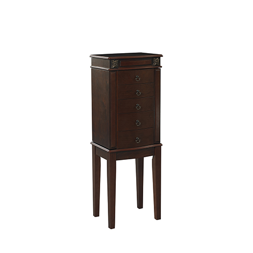 Olivia Cherry Jewelry Armoire