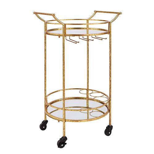 Brighton Hill Gold Round Bar Cart