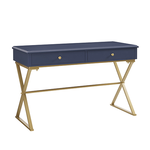 Blake Blue and Gold Desk