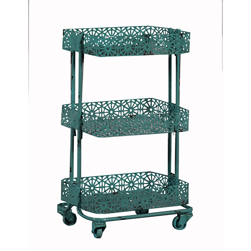 Turquoise Three Tier Cart