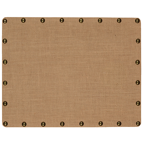 Burlap Brown and Bronze Small Nailhead Corkboard