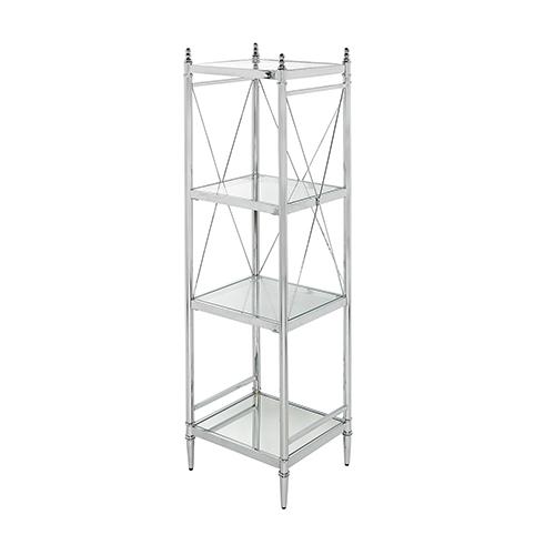 Pinnacle Chrome Bathroom Four Tier Shelf