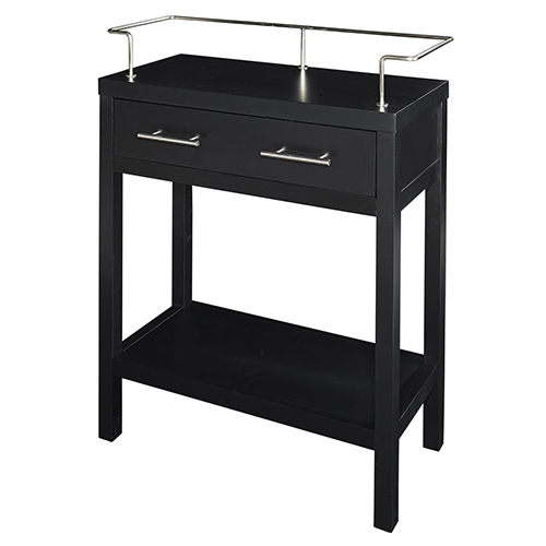 Hoover Black 28-Inch Bathroom Console