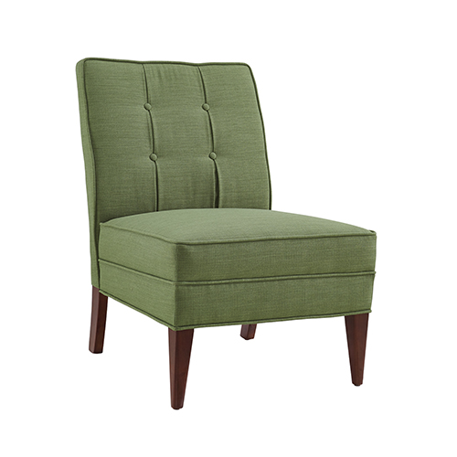 Carmen Green Slipper Chair