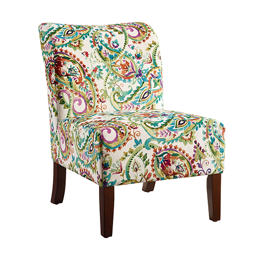 Brighton Hill Julie Multicolor Paisley Back Slipper Chair