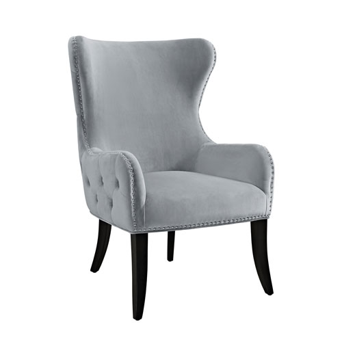 Salem Silver Gray Round Back Chair