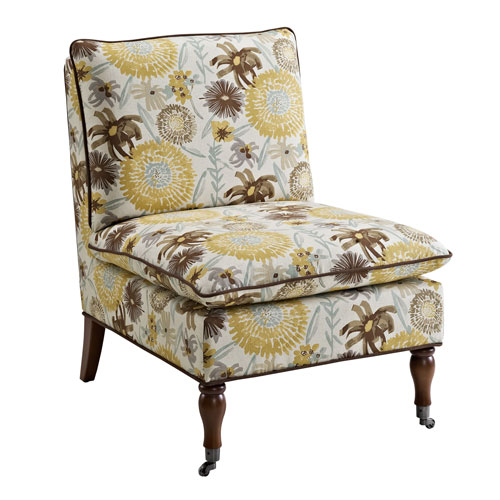 Peggy Floral Pillow Top Slipper Chair