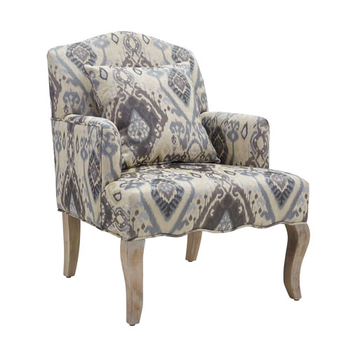 Brighton Hill Ikat Accent Arm Chair