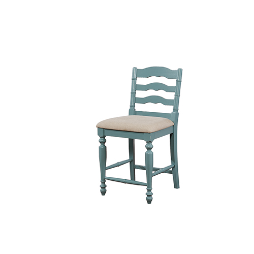 Melva Blue 24-Inch Counter Stool