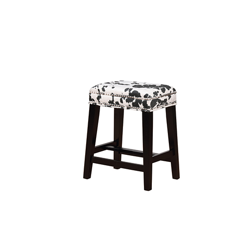 Brighton Hill Walt Black Cow 25-Inch Counter Stool