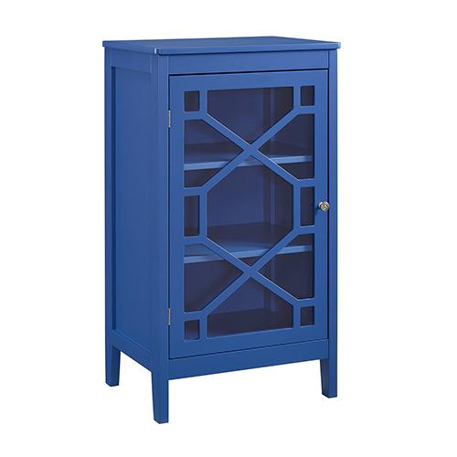 Felicia Blue Four Cubby Wall Shelf