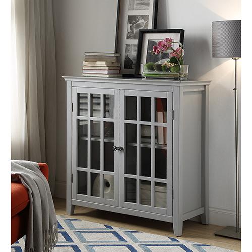 Brighton Hill Leslie Gray Double Door Cabinet