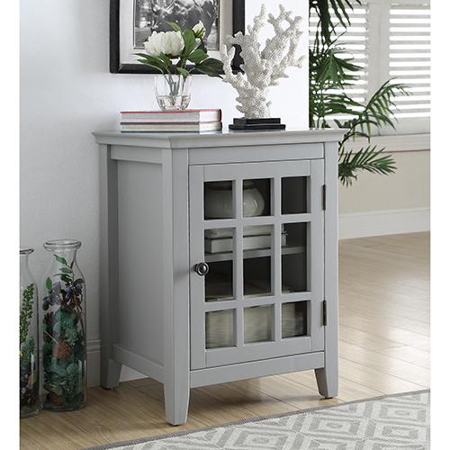 Leslie Gray Single Door Cabinet