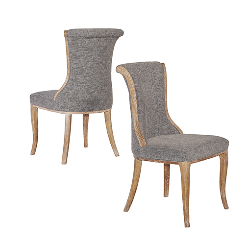 Sheffield Charcoal Flared Back Chairs - Set of Two