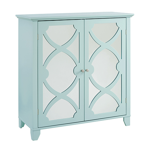 Seafoam Large Cabinet with Mirror Door