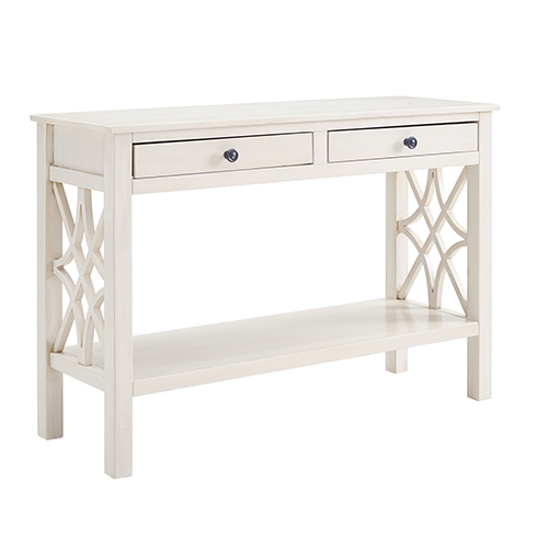 Incroyable Brighton Hill Whitley Antique White Console Table