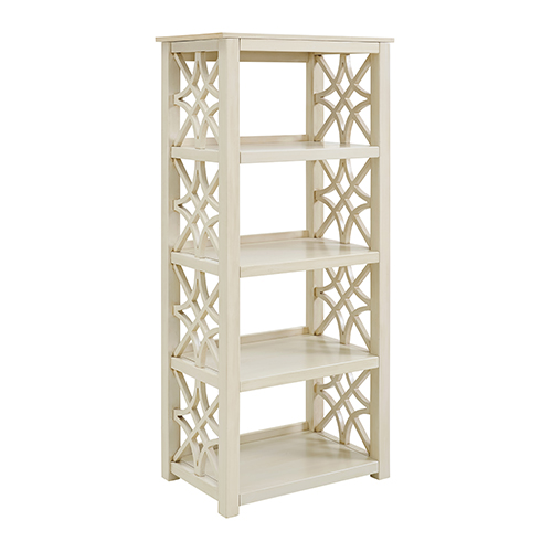 Whitley Antique White Bookcase