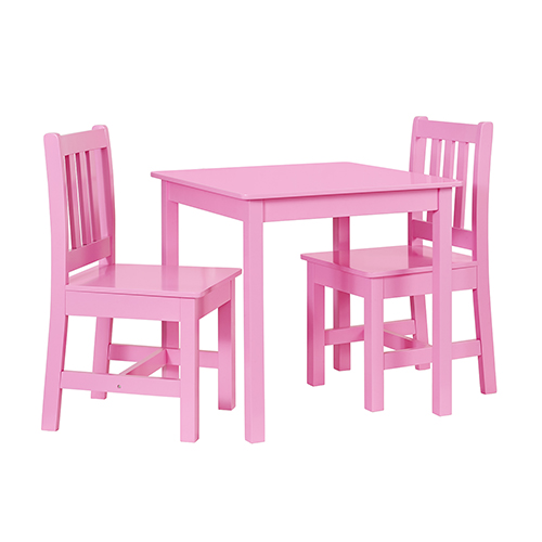 Brighton Hill Jaydn Pink Kid Table and Two Chairs Set  sc 1 st  Bellacor & Brighton Hill Jaydn Pink Kid Table And Two Chairs Set Yt106pink01u ...