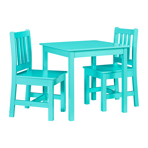 Jaydn Teal Kid Table and Two Chairs Set