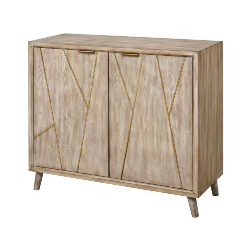 Edge Antique Fawn 40-Inch Two-Door Cabinet