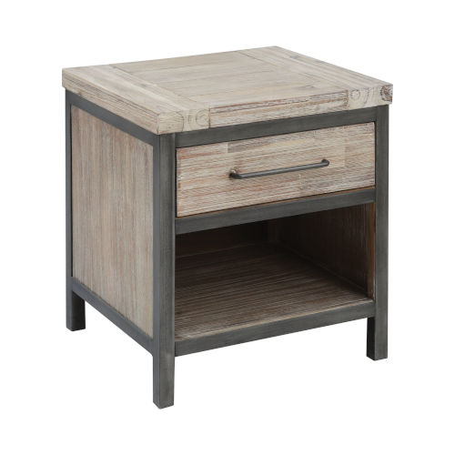 Cork County Atlantic Brushed and Pewter 19-Inch Accent Table