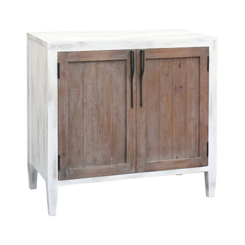 Wilder Front Porch White and Weathered Tuscan 36-Inch Two-Door Credenza