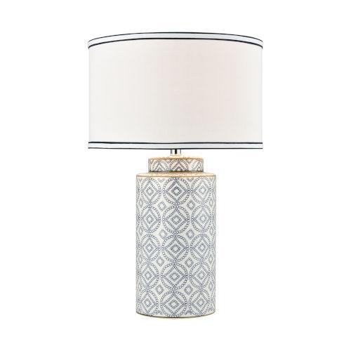 Ambert Blue White One-Light Table Lamp