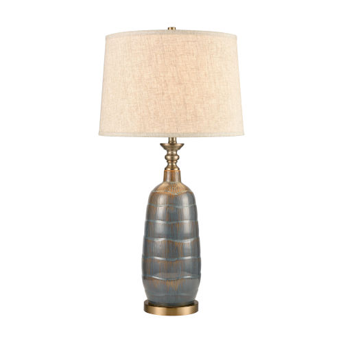 Redmond Brown Antique Brass One-Light Table Lamp
